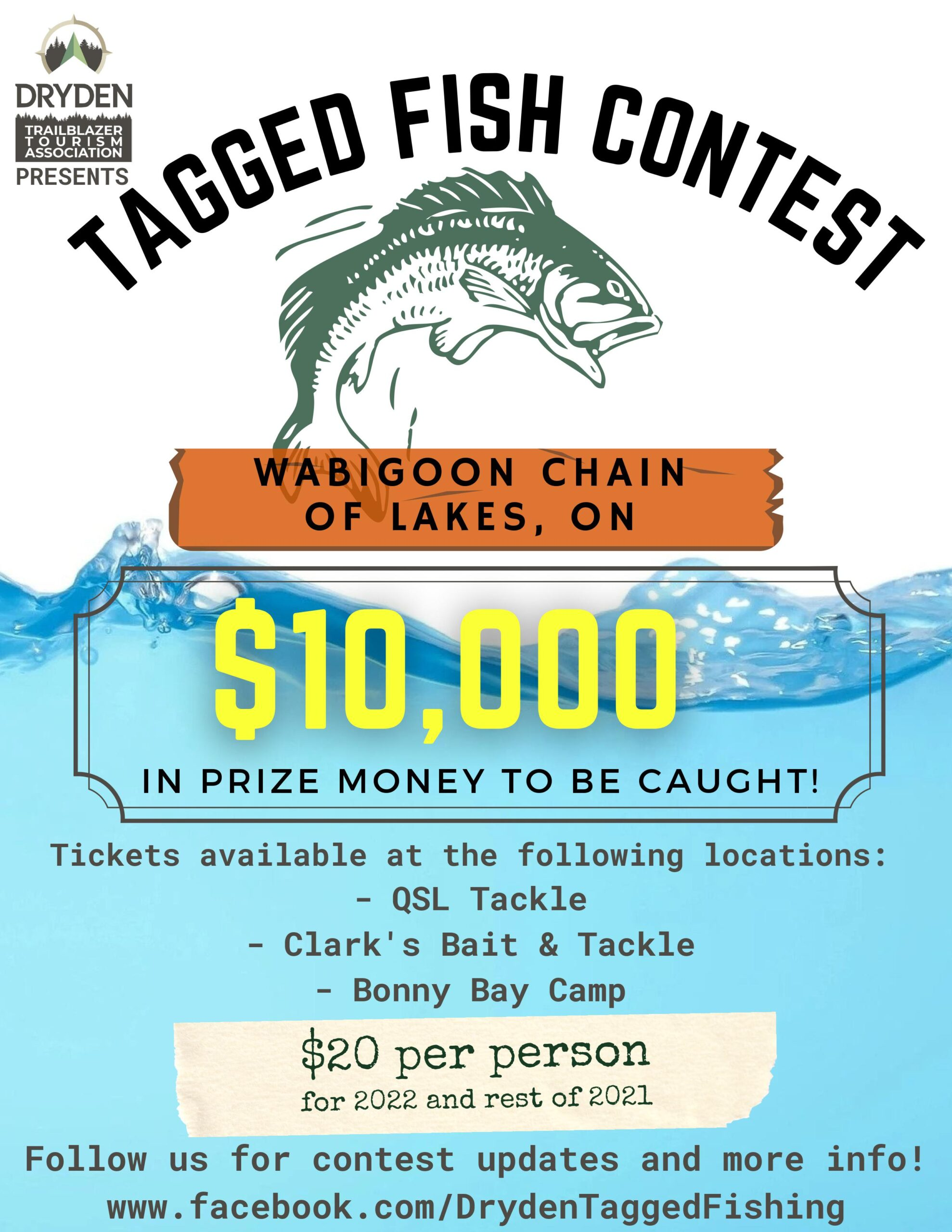 """Featured image for """"Trailblazer Tagged Fish Contest – $10,000 in tagged fish – Tickets on sale for 2021/2022!"""""""